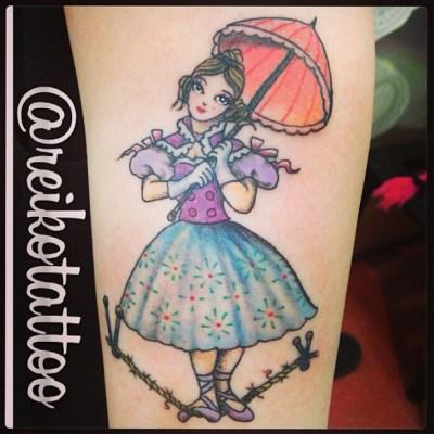 #acrobat #girl #parasol #circus #tattoo #綱渡り #女の子 #パラソル #サーカス #タトゥー