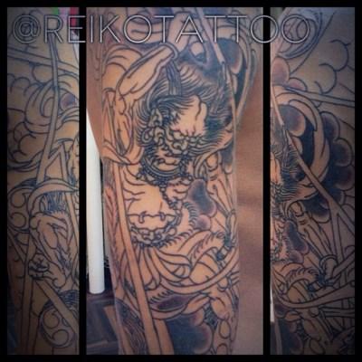 #Lijin #progress #tattoo #japanese #雷神 #タトゥー