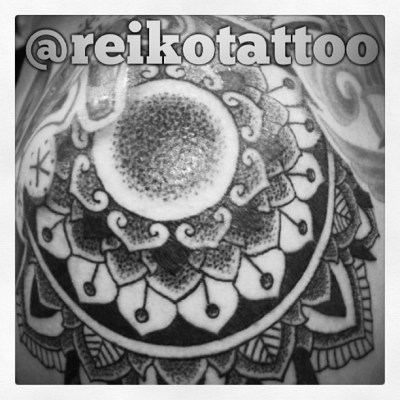 #mandala #flower #tattoo #dotwork #曼荼羅 #タトゥー #reikotattoo #studiokeen #名古屋