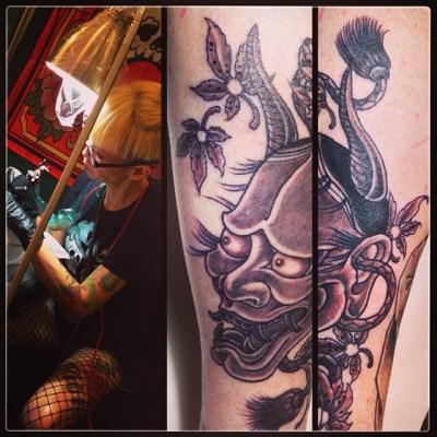 Today's work!!! Thanks, David!!! #Hannya #tattoo #般若 #タトゥー
