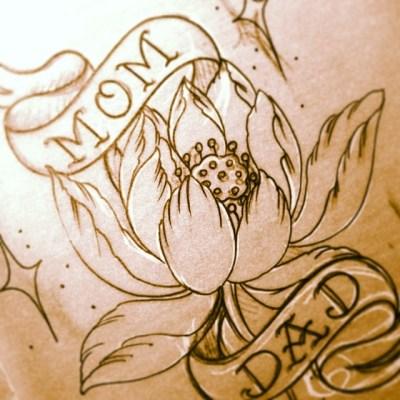 #sketch #lotus #mom #dad