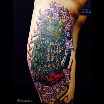#owl #tattoo #フクロウ #タトゥー