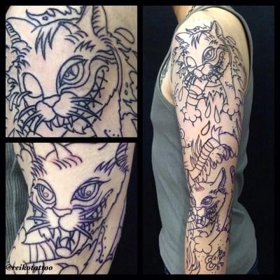 #evil #cat #tattoo #ドラ猫 #タトゥー
