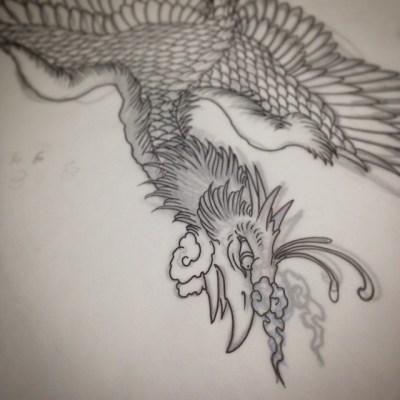 #sketch #phoenix #tattoo #design