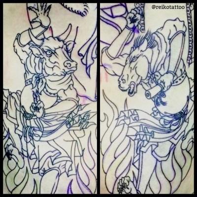 #Gozu #Mezu #tattoo #牛頭 #馬頭 #タトゥー #reikotattoo #studiokeen #名古屋 #大須
