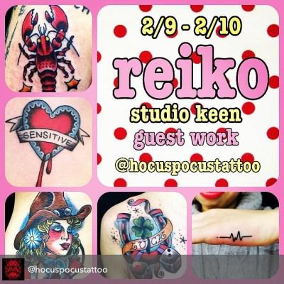 次回、静岡HocusPocusTattooのゲストワークは2月9, 10日です。ご連絡は HocusPocus 054 221 0167または reiko 09017223236 までよろしくお願いします!#tattoo #guestwork #静岡 #タトゥー#reikotattoo