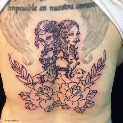 #girls #rose #outline #tattoo #女の子 #バラ #タトゥー  #reikotattoo #studiokeen #hocuspocustattoo #名古屋 #大須 #矢場町 #静岡