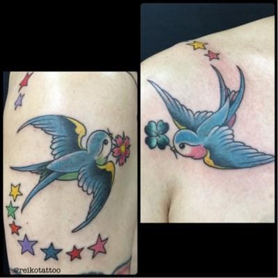 #swallow #tattoo #ツバメ #タトゥー #reikotattoo #studiokeen #名古屋 #大須 #矢場町