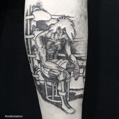 #あしたのジョー 原画まんまっ彫りました︎ #ちばてつや #タトゥー #reikotattoo #studiokeen #名古屋 #大須 #矢場町