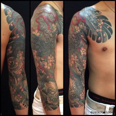 #Kirin #Oni #tattoo #麒麟 #鬼 #タトゥー #reikotattoo #studiokeen #名古屋 #大須 ##hocuspocustattoo #静岡