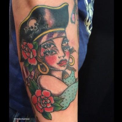 #pirates #girl #tattoo #パイレーツ #ガール #タトゥー #reikotattoo #studiokeen #hocuspocustattoo #名古屋 #大須 #矢場町 #静岡