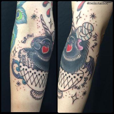 progress 途中まで〜 #marmot #teacup #tattoo #モルモット #ティーカップ #タトゥー #reikotattoo #studiokeen #名古屋 #矢場町 #大須