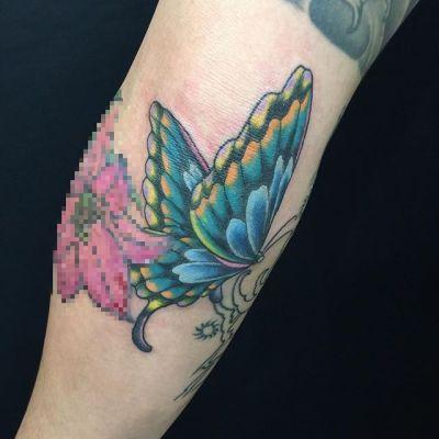 #butterfly #tattoo #蝶 #タトゥー #reikotattoo #studiokeen #名古屋 #大須 #矢場町