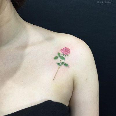 #rose #tattoo #バラ #タトゥー #reikotattoo #studiokeen #名古屋 #矢場町 #大須 reikotakagi@mac.com
