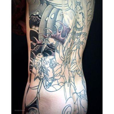 #魚藍観音 #額 #刺青 #タトゥー #gyoranknnon #tattoo #reikotattoo #studiokeen #hocuspocustattoo #japan #nagoyatattoo #tokyotattoo #名古屋 #静岡 #東京 #大須 #矢場町