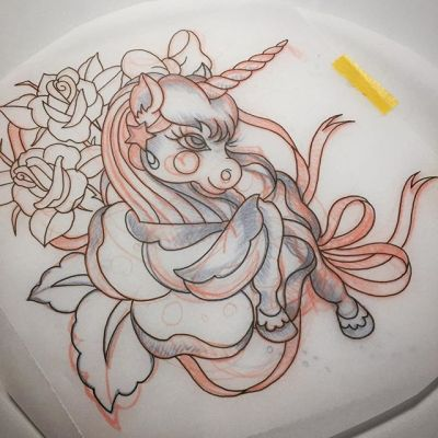 #ユニコーン #タトゥー #デザイン #unicorn #rose #reikotattoo #studiokeen #tattoo #sketching #design #japan #nagoyatattoo #tokyotattoo #名古屋 #大須 #矢場町 #東京 #静岡