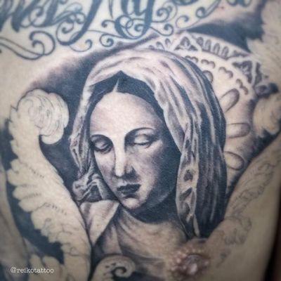 #マリア #タトゥー #ブラックアンドグレー #タトゥー  #saintmary #tattoo #reikotattoo #studiokeen #japan #nagoyatattoo #tokyotattoo #名古屋 #大須 #矢場町 #東京 #静岡