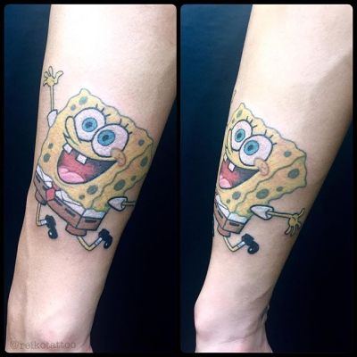 #spongebob #スポンジボブ #タトゥー #tattoo #reikotattoo #studiokeen #japan #nagoyatattoo #tokyotattoo #名古屋 #大須 #矢場町 #東京 #静岡 #hocuspocustattoo #shizuokatattoo