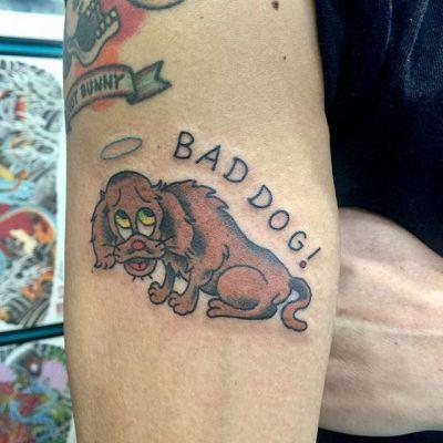 #ミニチュアダックス #いぬ #dog . . . #tattoo #reikotattoo #studiokeen #japan #nagoyatattoo #tokyotattoo #irezumi #タトゥー #刺青 #名古屋 #大須 #矢場町 #東京 #静岡 #hocuspocustattoo #shizuokatattoo