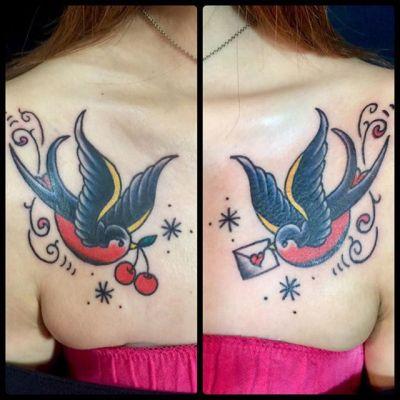 #ツバメ #swallow ...#tattoo #reikotattoo #studiokeen #japan #nagoyatattoo #tokyotattoo #irezumi #タトゥー #刺青 #名古屋 #大須 #矢場町 #東京 #静岡 #hocuspocustattoo #shizuokatattoo