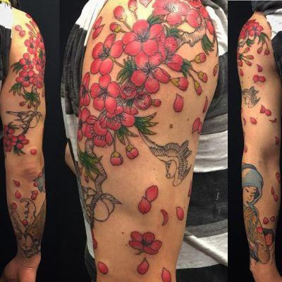#sakura #japanesegirl #kimono #sparrow #桜 #雀 #浮世絵 #美人画 ...#tattoo #reikotattoo #studiokeen #japan #nagoyatattoo #tokyotattoo #irezumi #タトゥー #刺青 #名古屋 #大須 #矢場町 #東京