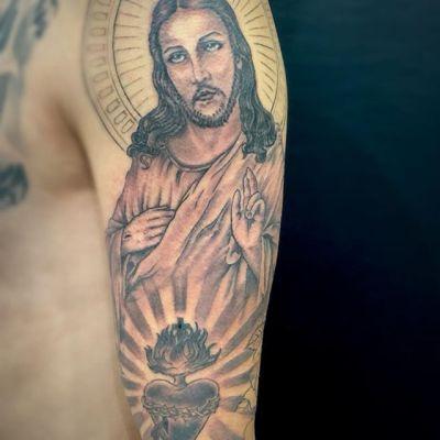 #ジーザス #ブラックアンドグレー #jesus ...#tattoo #reikotattoo #studiokeen #japan #nagoyatattoo #tokyotattoo #irezumi #タトゥー #刺青 #名古屋 #大須 #矢場町 #東京
