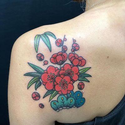 #松竹梅 #shochikubai ...#tattoo #reikotattoo #studiokeen #japan #nagoyatattoo #tokyotattoo #irezumi #タトゥー #刺青 #名古屋 #大須 #矢場町 #東京