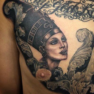 #Nefertiti #ネフェルティティ #w.i.p. ...#tattoo #reikotattoo #studiokeen #japan #nagoyatattoo #tokyotattoo #irezumi #タトゥー #刺青 #名古屋 #大須 #矢場町 #東京