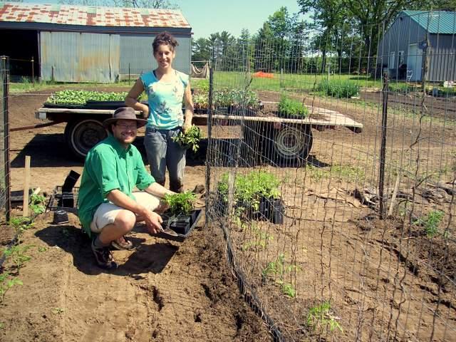 Volunteers Nick and Monica