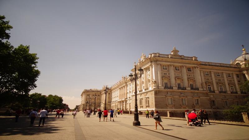 Palacio Real en Madrid capital