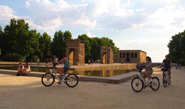 El Templo de Debod en Madrid