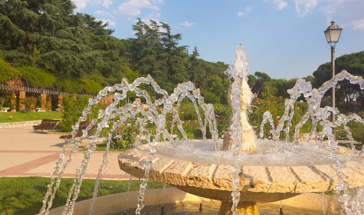 Jardín de la Rosaleda en Madrid Capital de España