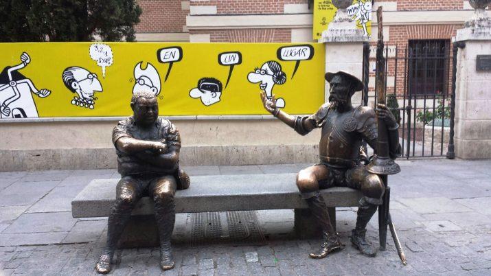 Don Quijote y su fiel escudero en Alcalá de Henares