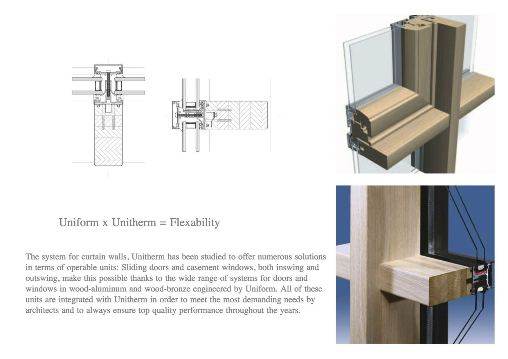 uniform curtain wall and storefront windows