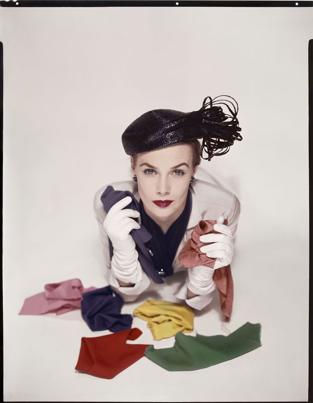 Lilian Macusson for the cover of American Vogue, January 1951 © The Estate of Erwin Blumenfeld