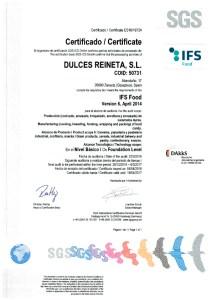 Certificado-IFS-Reineta-2