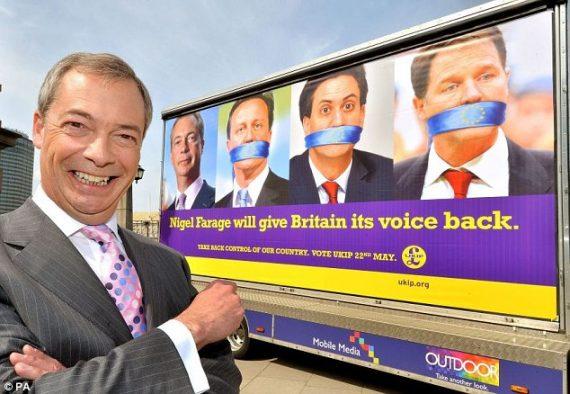 Sondages Travailleurs Votent UKIP Travaillistes Britanniques