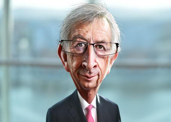 Juncker Extraterrestre Portrait Dirigeant Mondialiste 4G