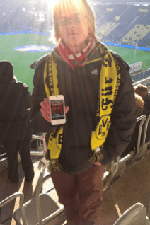 """März 2013: Da ist unserer Hörer """"Steve_G"""" schon mal im Signal Iduna Park, und dann verliert der BVB auch noch gegen Wolfsburg. Oh man... aber egal, Reingemacht war dabei und alles war gut!"""