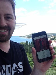 """Mai 2015: """"Wunschkind75"""" freut sich über die neueste """"Reingemacht"""" Folge und hört sie gleich noch im Urlaub in Kroatien, in der Nähe von Dubrovnik."""