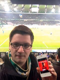 """März 2012: """"Dome"""" beim Spiel der Wölfe gegen den Hamburger SV. Ja, es war ein Erstliga-Spiel! Vielen Dank Dome, aber nächstes mal bitte keine Fotos sondern Punkte schicken :-)"""