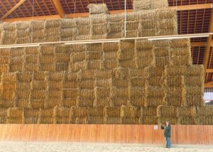 straw bales in Germany
