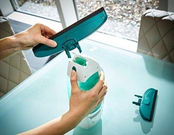 Leifheit 51004 Fenstersauger Dry&Clean mit Saugdüse 17cm Fenstersauger, Plastik, weiß, 23 x 10 x 34 cm -