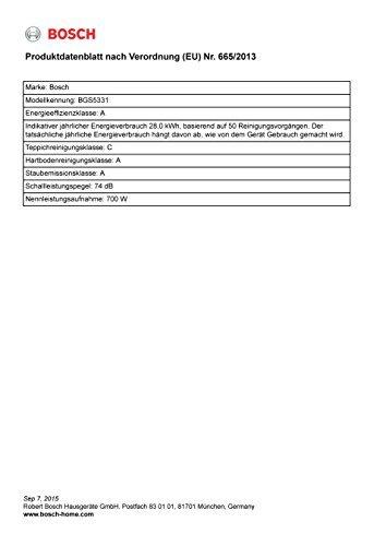 Bosch BGS5331 Bodenstaubsauger Relaxx'x ProSilence Plus, EEK A, beutellos, QuattroPower System, SensorControl, weiß -