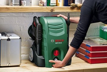 Bosch DIY Hochdruckreiniger AQT 35-12 (Hochdruckpistole, Lanze, transparenter Wasserfilter, 3-in-1 Düse, 5 m Hochdruckschlauch, 5 m Netzanschlusskabel, Karton (1500 W, 120 bar, 350 l/h)) -