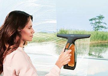 AEG Fenstersauger WX7-60CE1 (60 Min. Laufzeit, Lithium-Power-Akku, nur 60dB(A), inkl. 1 Aufsatz und Zubehör, Abziehlippen aus Naturkautschuk) Fensterreiniger in Orange -
