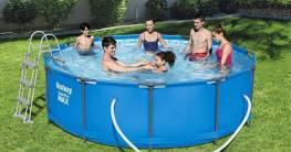 Bestway Pool aufbauen