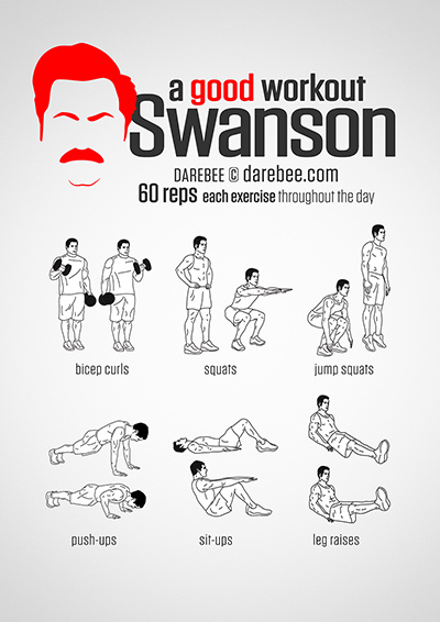 entrenamiento parks and recreation ron swanson