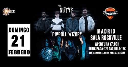 PINBALL WIZARD y THE NIFTYS (21-02-2021 Sala Rockville, Madrid)