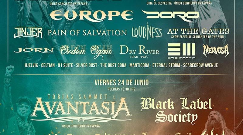Distribución de bandas por día en Rock Imperium Festival 2022